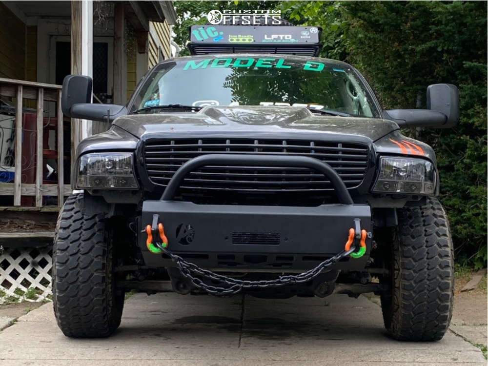 "2002 Dodge Durango Aggressive > 1"" outside fender on 15x10 -25 offset Black Rock Type 8 & 31""x10.5"" Achilles Desert Hawk X-mt on Suspension Lift 3"" - Custom Offsets Gallery"