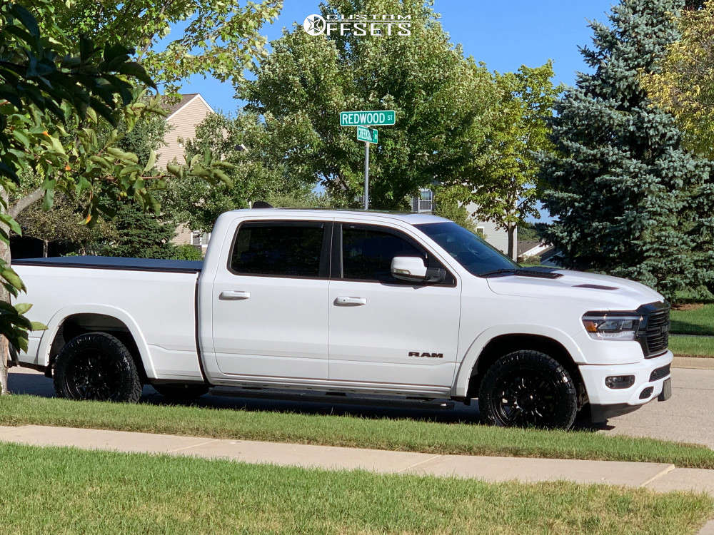 2020 Ram 1500 Slightly Aggressive on 20x9 -12 offset Ultra Hunter and 285/65 Nitto Ridge Grappler on Stock Suspension - Custom Offsets Gallery