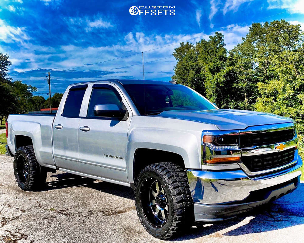 """2018 Chevrolet Silverado 1500 Aggressive > 1"""" outside fender on 20x10 -23 offset Gear Off-Road Big Block and 33""""x12.5"""" Federal Couragia Mt on Stock - Custom Offsets Gallery"""