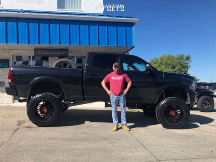 """2017 Ram 3500 Super Aggressive 3""""-5"""" on 22x12 -44 offset Xtreme Force XF-218 & 38""""x13.5"""" Nitto Ridge Grappler on Suspension Lift 8"""" - Custom Offsets Gallery"""