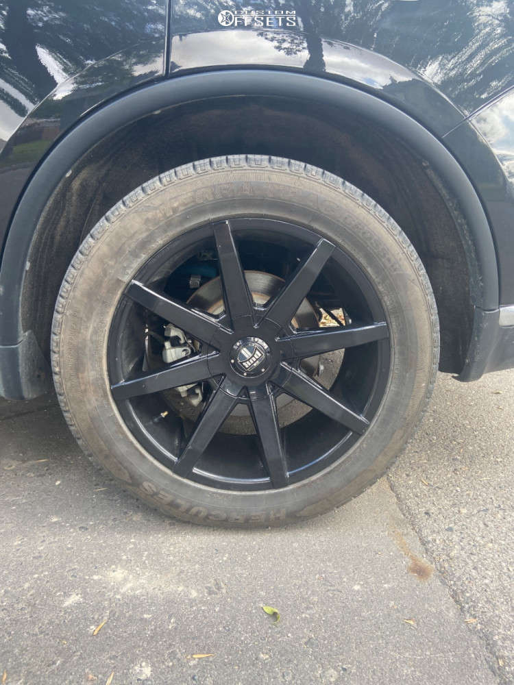 2016 Dodge Durango Poke on 20x8.5 42 offset DUB Push and 265/50 Hercules Terra Trac A/t on Stock Suspension - Custom Offsets Gallery