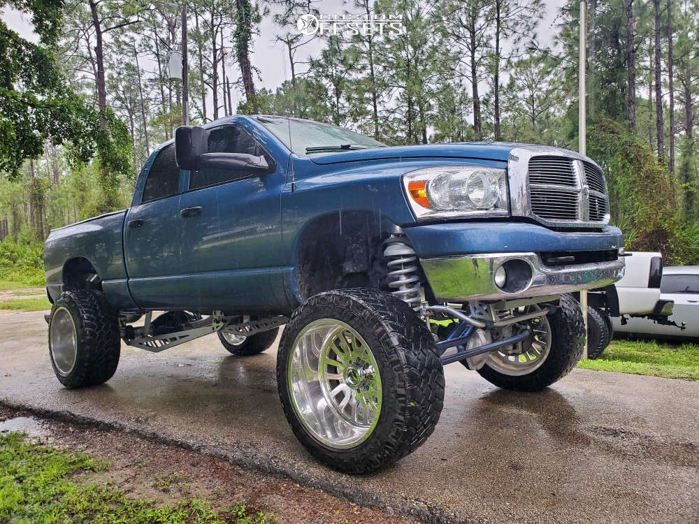 """2006 Dodge Ram 2500 Super Aggressive 3""""-5"""" on 24x14 -76 offset Fuel Forged FF68 and 38""""x13.5"""" Nitto Trail Grappler on Suspension Lift 10"""" - Custom Offsets Gallery"""