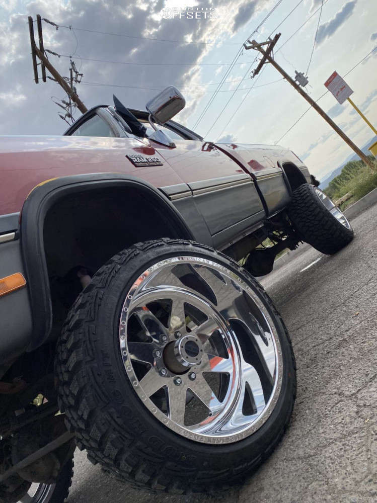 """1991 Dodge W250 Aggressive > 1"""" outside fender on 22x14 -73 offset American Force Independence Ss & 33""""x12.5"""" Kanati Mud Hog on Suspension Lift 4"""" - Custom Offsets Gallery"""