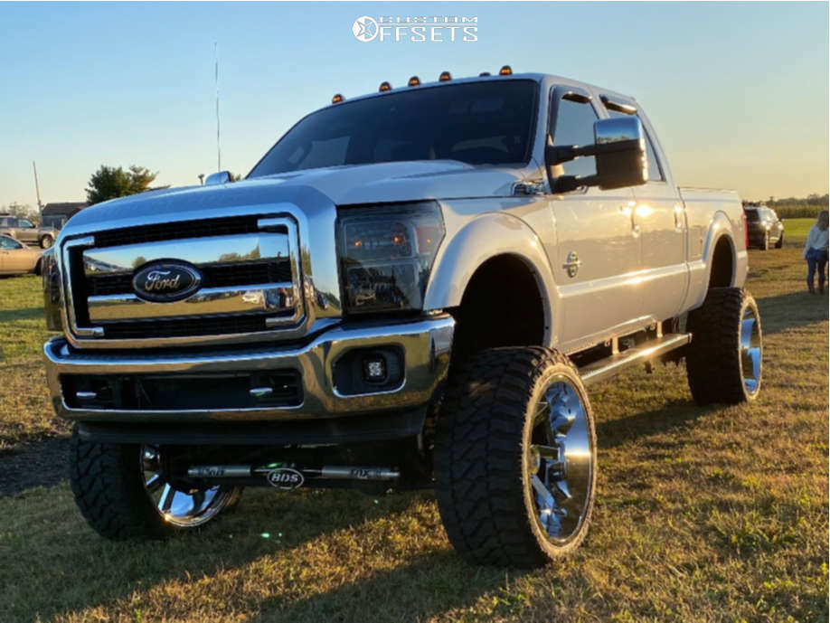"""2014 Ford F-350 Super Duty Super Aggressive 3""""-5"""" on 26x14 -81 offset ARKON OFF-ROAD Lincoln & 38""""x15.5"""" Fury Offroad Country Hunter Mt on Suspension Lift 10"""" - Custom Offsets Gallery"""