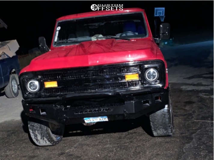 """1972 Chevrolet K10 Pickup Flush on 20x9 0 offset Anthem Off-Road Equalizer & 33""""x12.5"""" Goodyear Wrangler A/t on Suspension Lift 4"""" - Custom Offsets Gallery"""