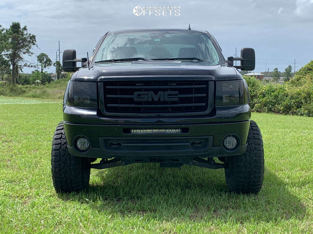 """2012 GMC Sierra 1500 Super Aggressive 3""""-5"""" on 20x12 -52 offset Method Nv and 35""""x12.5"""" Federal Xplora Rt on Suspension Lift 7.5"""" - Custom Offsets Gallery"""