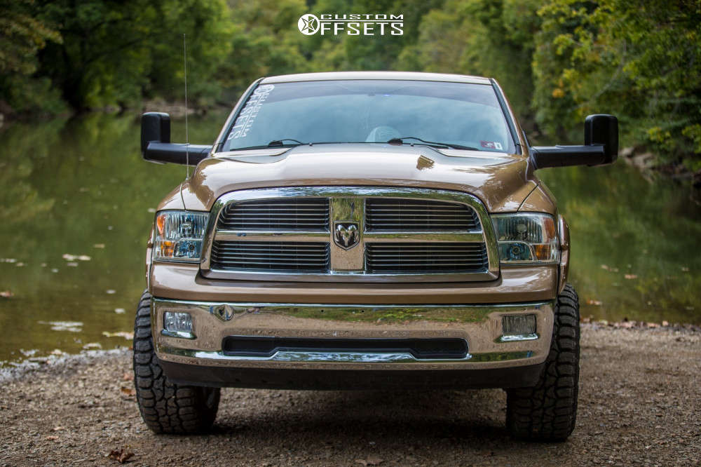 """2011 Ram 1500 Aggressive > 1"""" outside fender on 20x12 -51 offset Vision Rocker and 33""""x12.5"""" Federal Xplora Rt on Suspension Lift 2.5"""" - Custom Offsets Gallery"""