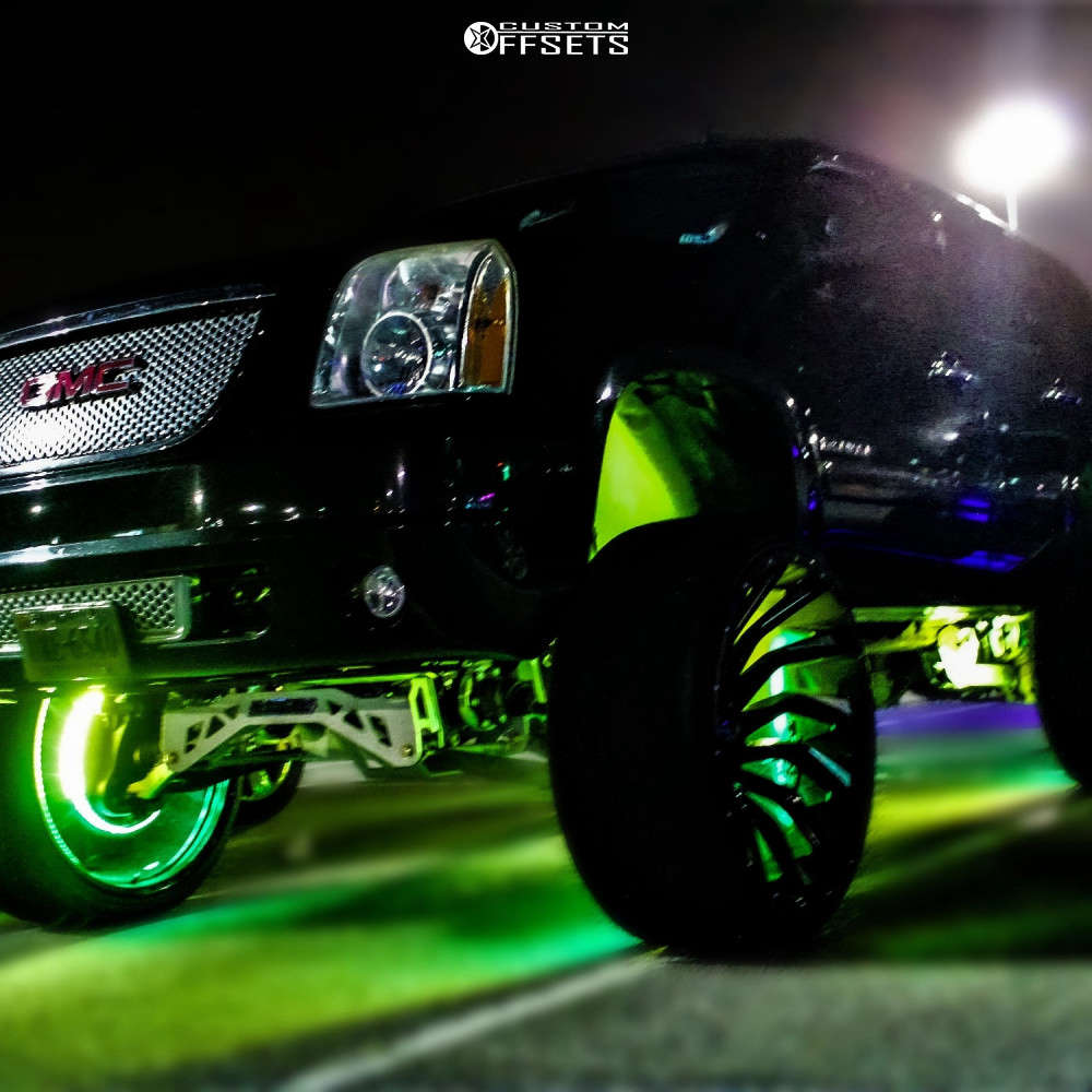 """2012 GMC Yukon Super Aggressive 3""""-5"""" on 28x14 -76 offset Xf Offroad Xf-224 and 325/35 Wanli Sp601 on Suspension Lift 9"""" - Custom Offsets Gallery"""