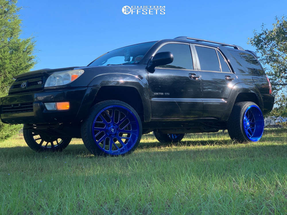"""2005 Toyota 4Runner Super Aggressive 3""""-5"""" on 22x12 -44 offset Axe Offroad Ax2.7 and 265/35 Toyo Tires Proxes S/t on Suspension Lift 3"""" - Custom Offsets Gallery"""