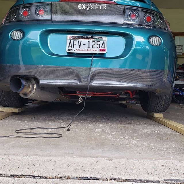 1999 Mitsubishi Eclipse Flush on 19x9.5 30 offset MRR Vp5 and 235/35 Nitto Nt555 G2 on Coilovers - Custom Offsets Gallery