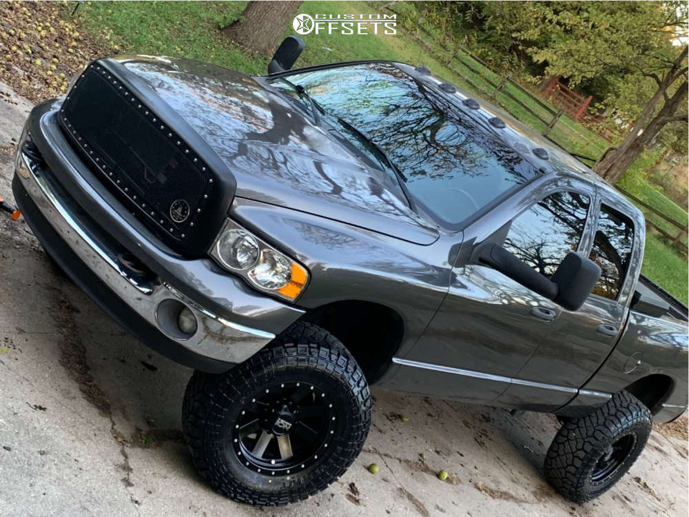 """2004 Dodge Ram 2500 Aggressive > 1"""" outside fender on 18x9.5 0 offset Ion Alloy 171 and 35""""x12.5"""" Kenda Klever R/t on Suspension Lift 3"""" - Custom Offsets Gallery"""