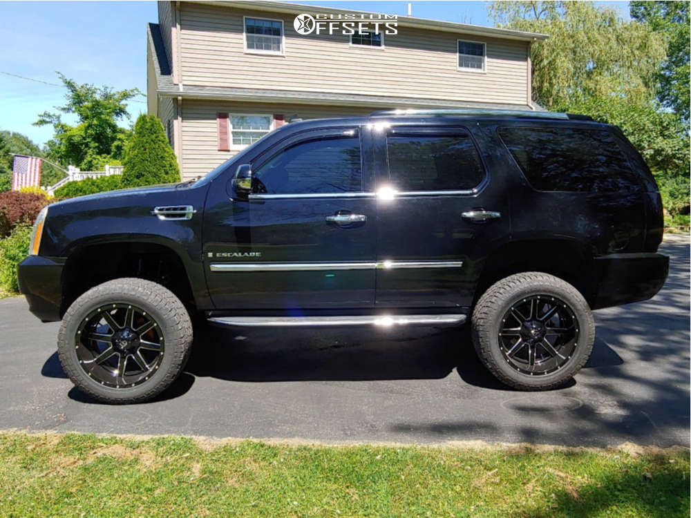 """2008 Cadillac Escalade Aggressive > 1"""" outside fender on 22x10 -24 offset Fuel 538 and 35""""x12.5"""" Radar Renegade Rt on Suspension Lift 6.5"""" - Custom Offsets Gallery"""