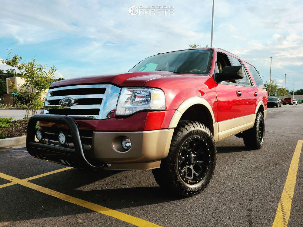 """2014 Ford Expedition Aggressive > 1"""" outside fender on 18x9 1 offset Ultra Xtreme X109 and 275/65 Ironman All Country Mt on Suspension Lift 3"""" - Custom Offsets Gallery"""