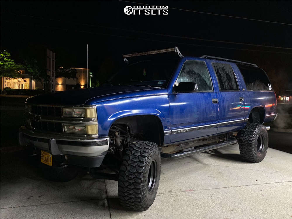 """1993 Chevrolet K1500 Suburban Super Aggressive 3""""-5"""" on 15x10 -44 offset Alloy Ion Style 136 and 35""""x12.5"""" Mickey Thompson Baja Atz on Suspension Lift 12"""" - Custom Offsets Gallery"""