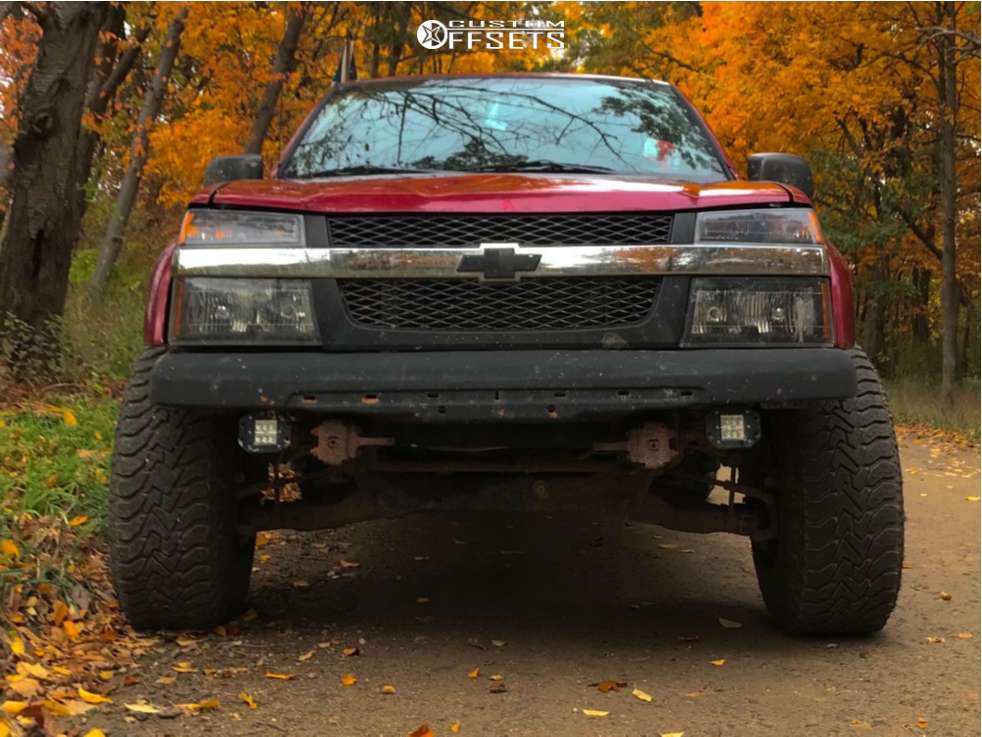 """2004 Chevrolet Colorado Super Aggressive 3""""-5"""" on 15x10 -43 offset Pro Comp 52 & 31""""x10.5"""" Goodyear All Terrain on Leveling Kit - Custom Offsets Gallery"""