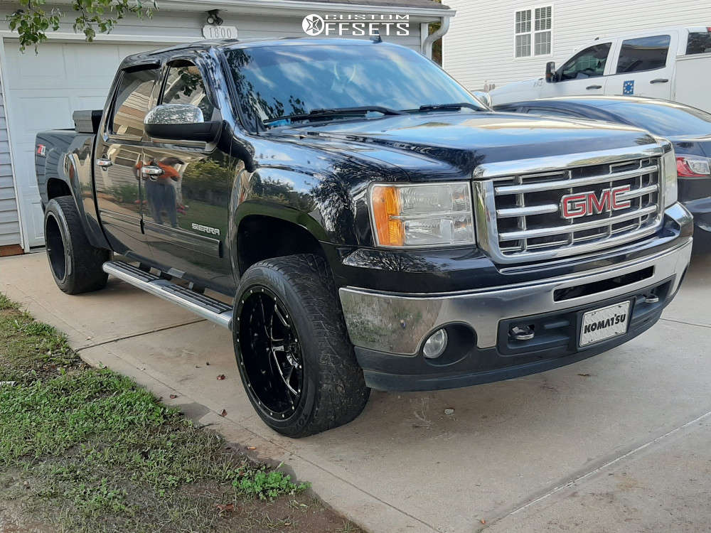 """2010 GMC Savana 1500 Super Aggressive 3""""-5"""" on 22x12 -44 offset Gear Off-Road 726mb & 305/45 Toyo Proxes on Stock Suspension - Custom Offsets Gallery"""