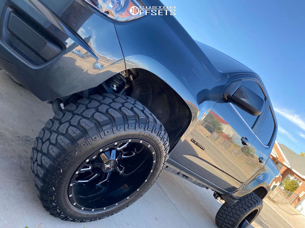 """2019 Chevrolet Colorado Super Aggressive 3""""-5"""" on 20x12 -44 offset Karma Offroad K25 & 33""""x12.5"""" Forceland Kunimoto M/t on Suspension Lift 2.5"""" - Custom Offsets Gallery"""