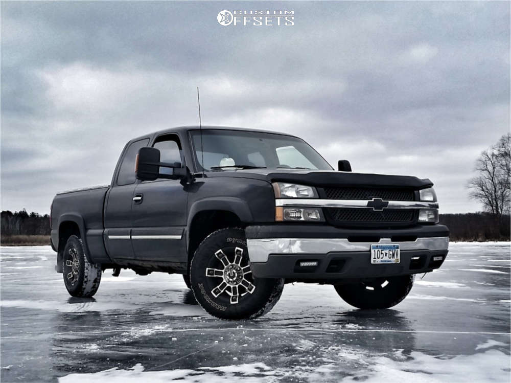 """2005 Chevrolet Silverado 1500 Aggressive > 1"""" outside fender on 16x9 0 offset Mamba M2x & 27""""x9.5"""" Hankook Dynapro At2 on Stock Suspension - Custom Offsets Gallery"""
