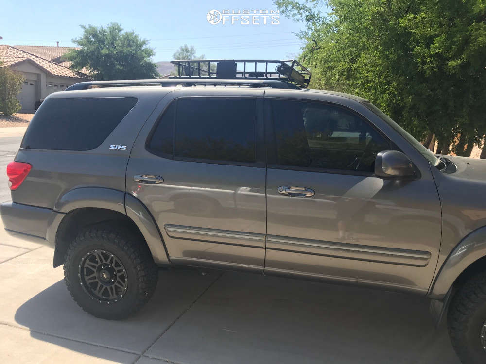 """2005 Toyota Sequoia Nearly Flush on 17x5 44.45 offset Pro Comp Series 05 and 32""""x8.5"""" BFGoodrich All Terrain T/a Ko2 on Suspension Lift 2.5"""" - Custom Offsets Gallery"""