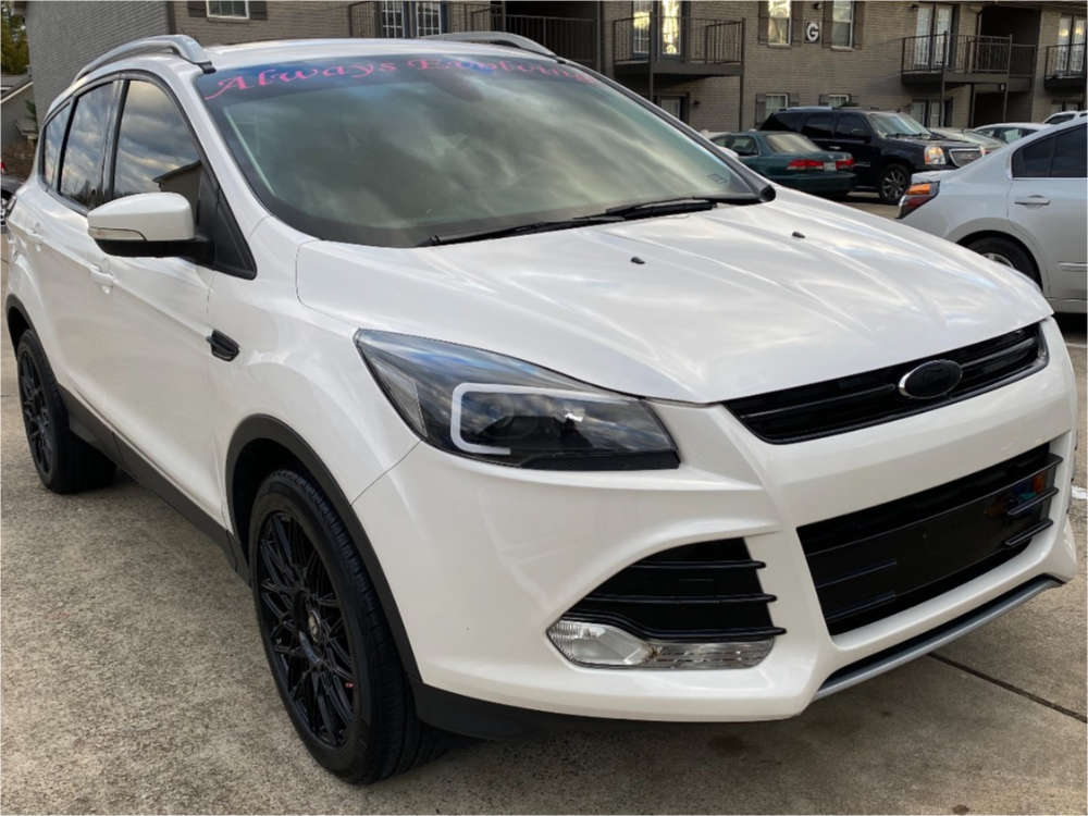 2014 Ford Escape Flush on 18x8 40 offset Touren Tr78 and 235/50 Tiger Paw Uniroyal on Stock Suspension - Custom Offsets Gallery