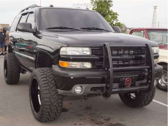 """2005 Chevrolet Tahoe Aggressive > 1"""" outside fender on 22x11.5 -44 offset Black Rhino Canon and 35""""x12.5"""" Haida Hd878 R/t on Suspension Lift 6"""" - Custom Offsets Gallery"""