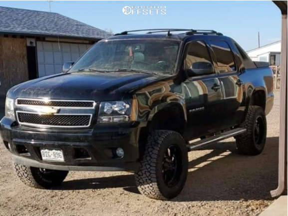 """2007 Chevrolet Avalanche Aggressive > 1"""" outside fender on 20x10 10 offset RBP 69r & 35""""x12.5"""" Gladiator Xcomp Mt on Suspension Lift 7.5"""" - Custom Offsets Gallery"""