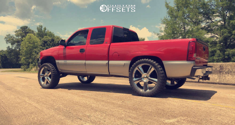 """2000 Chevrolet Silverado 1500 Aggressive > 1"""" outside fender on 24x9.5 30 offset Eclipse Replica 278 and 35""""x12.5"""" Comforser Cf3000 on Suspension Lift 6"""" - Custom Offsets Gallery"""