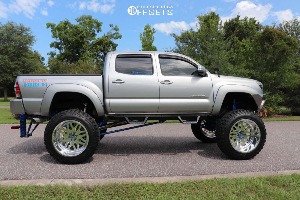 """2015 Toyota Tacoma Super Aggressive 3""""-5"""" on 24x14 -73 offset American Force Trax Ss and 40""""x13.5"""" Fury Offroad Country Hunter Mt on Suspension Lift 12"""" - Custom Offsets Gallery"""
