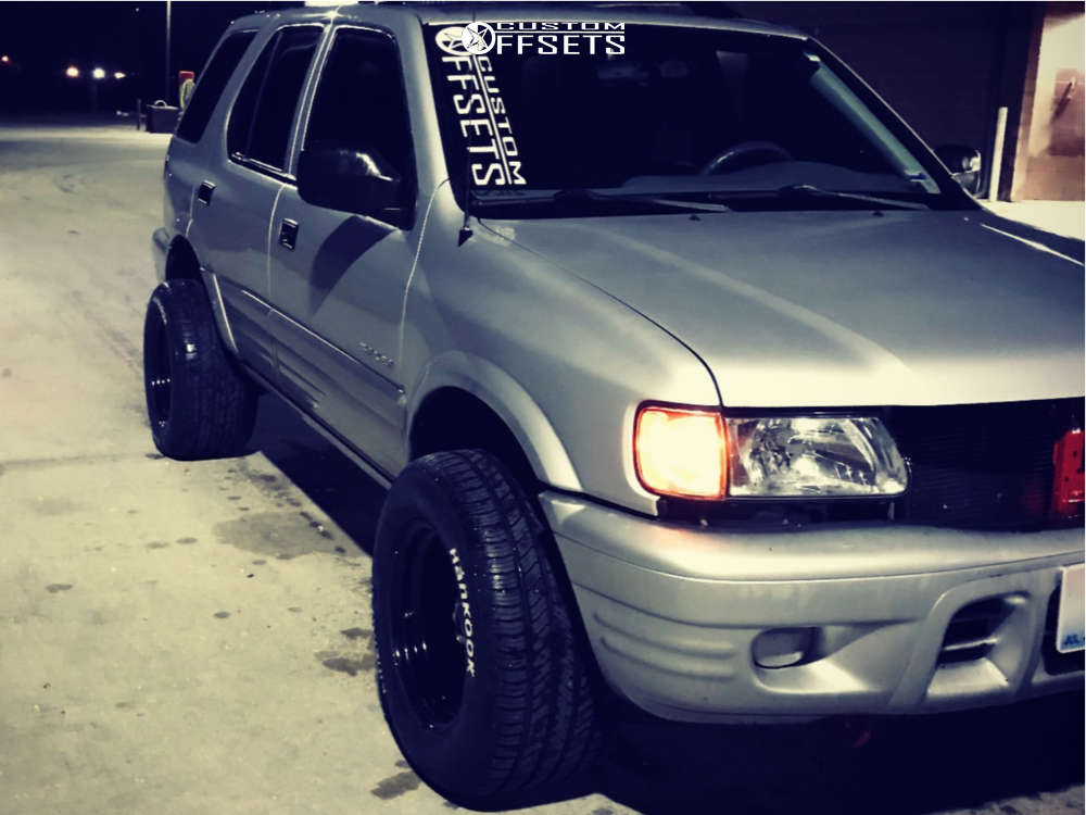 """2001 Isuzu Rodeo Super Aggressive 3""""-5"""" on 15x10 -38 offset Vision Soft 8 & 295/50 Hankook Kinergy Gt on Stock Suspension - Custom Offsets Gallery"""