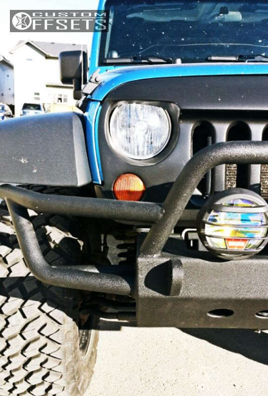 """2010 Jeep Wrangler Aggressive > 1"""" outside fender on 20x10 -12 offset Fuel Hostage & 35""""x12.5"""" Nitto Trail Grappler on Body Lift 3"""" - Custom Offsets Gallery"""