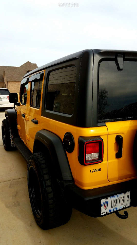 """2021 Jeep Wrangler Aggressive > 1"""" outside fender on 20x11 -33 offset Luxxx HD Lhd Pro 1 and 285/65 Nitto Ridge Grappler on Stock Suspension - Custom Offsets Gallery"""