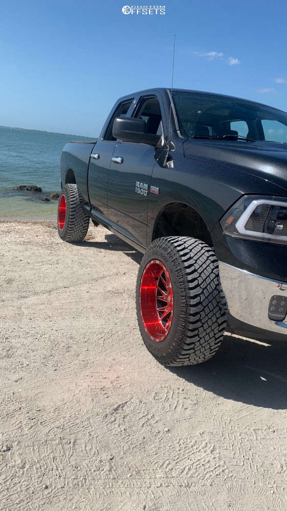 """2016 Ram 1500 Super Aggressive 3""""-5"""" on 20x12 -44 offset Tis 547rm and 35""""x12.5"""" Atturo Trail Blade Xt on Suspension Lift 7"""" - Custom Offsets Gallery"""