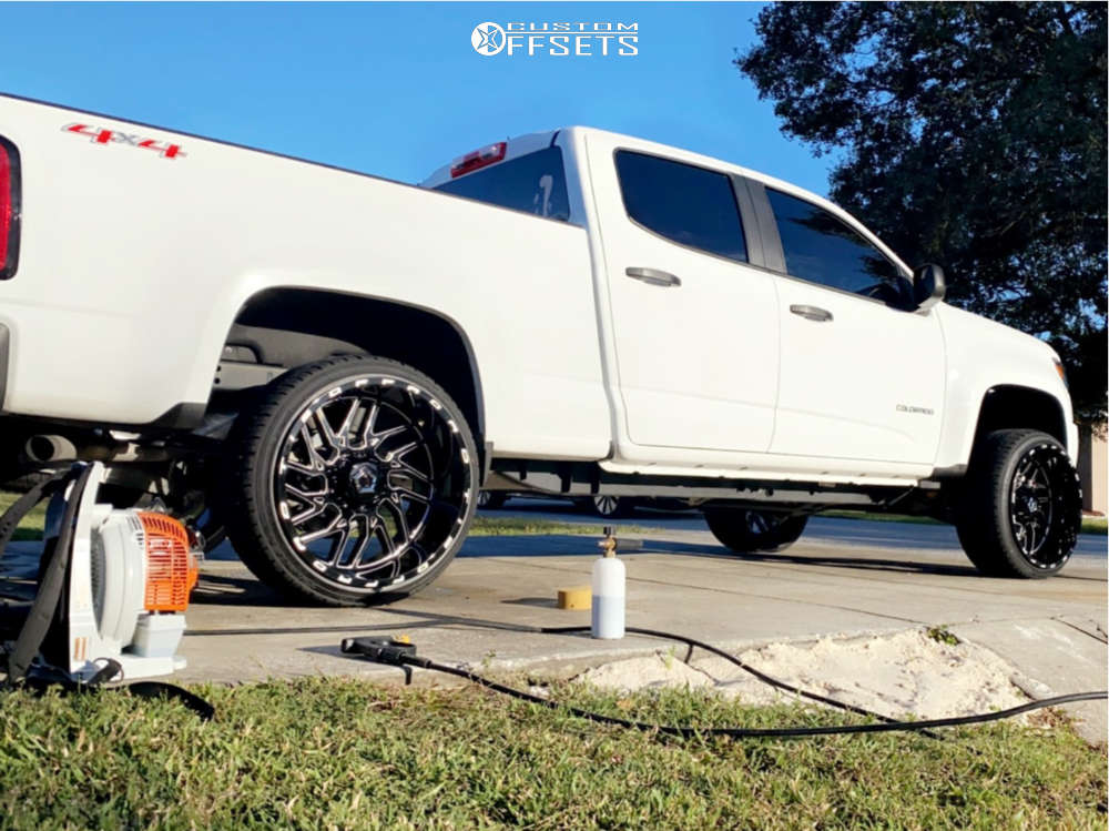 "2020 Chevrolet Colorado Super Aggressive 3""-5"" on 22x12 -44 offset TIS 544bm & 265/35 Falken Ziex Stz05 on Leveling Kit - Custom Offsets Gallery"