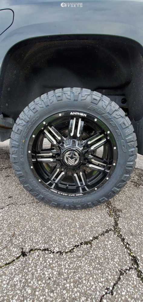 """2016 GMC Canyon Aggressive > 1"""" outside fender on 20x9 0 offset Anthem Off-Road Equalizer and 275/55 Nitto Ridge Grappler on Suspension Lift 4"""" - Custom Offsets Gallery"""
