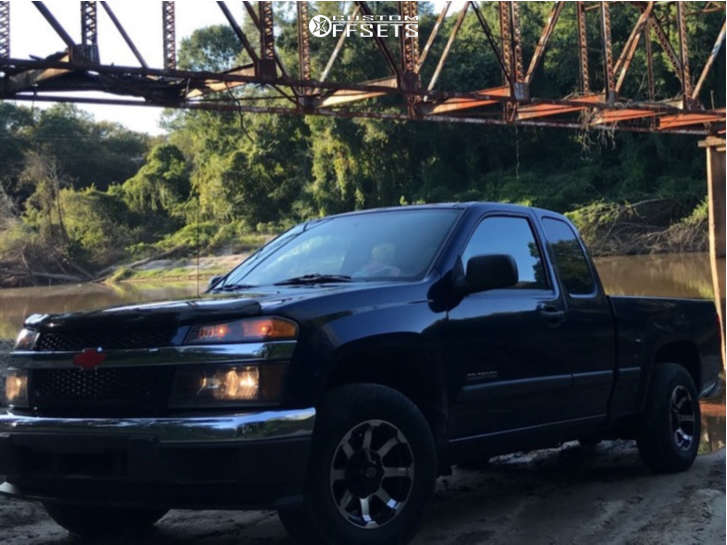 """2004 Chevrolet Colorado Aggressive > 1"""" outside fender on 15x7.5 -12 offset Vision Valor & 30""""x9.5"""" Americus All Terrian on Stock Suspension - Custom Offsets Gallery"""