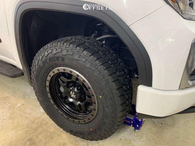 2021 GMC Sierra 1500 Flush on 17x8.5 6 offset Fuel Anza & 285/70 Falken Wildpeak At3w on Stock Suspension - Custom Offsets Gallery