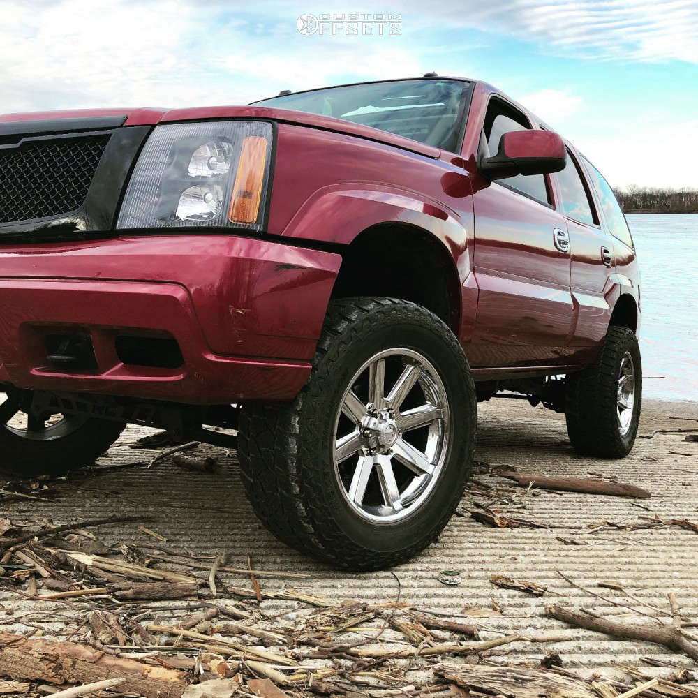 """2004 Cadillac Escalade Aggressive > 1"""" outside fender on 20x9 -12 offset Ultra Crusher and 35""""x12.5"""" Mickey Thompson Baja Atz P3 on Suspension Lift 6"""" - Custom Offsets Gallery"""