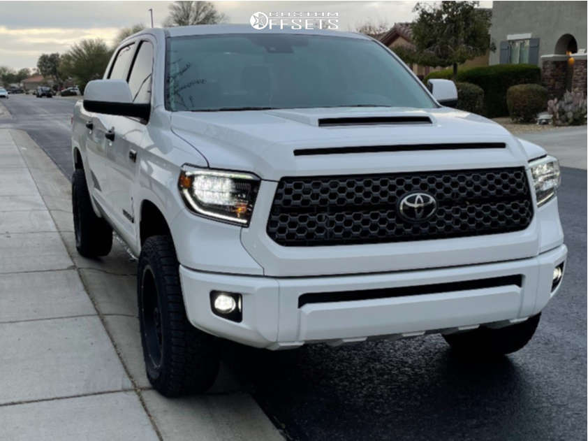2020 Toyota Tundra Slightly Aggressive on 20x9 12 offset Vision Rocker and 275/60 Falken Wild Peak At3w on Leveling Kit - Custom Offsets Gallery