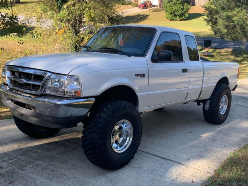 """2000 Ford Ranger Aggressive > 1"""" outside fender on 15x10 -47 offset Pro Comp Series 69 and 35""""x12.5"""" Mickey Thompson Baja Mtz P3 on Suspension Lift 8.5"""" - Custom Offsets Gallery"""