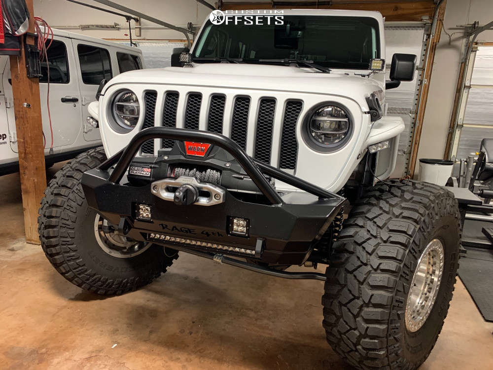 """2020 Jeep Wrangler Hella Stance >5"""" on 17x10 -24 offset KMC Km235 and 40""""x13.5"""" Cooper Discoverer Stt Pro on Suspension Lift 4.5"""" - Custom Offsets Gallery"""
