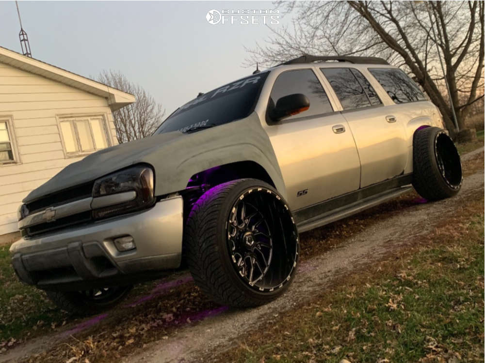 "2004 Chevrolet Trailblazer EXT Hella Stance >5"" on 24x14 -76 offset Tis 544bm and 305/50 Atturo Az800 on Suspension Lift 3"" - Custom Offsets Gallery"