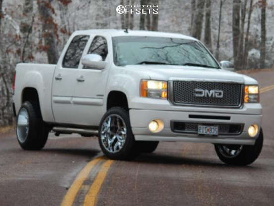 """2011 GMC Sierra 1500 Super Aggressive 3""""-5"""" on 20x12 -55 offset Vision Sliver and 285/65 Nitto Terra Grappler G2 on Stock Suspension - Custom Offsets Gallery"""