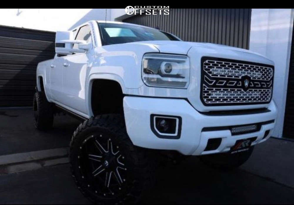 """2015 GMC Sierra 2500 HD Super Aggressive 3""""-5"""" on 22x12 -44 offset Fuel Maverick & 37""""x13.5"""" Toyo Tires Open Country M/T on Suspension Lift 9"""" - Custom Offsets Gallery"""