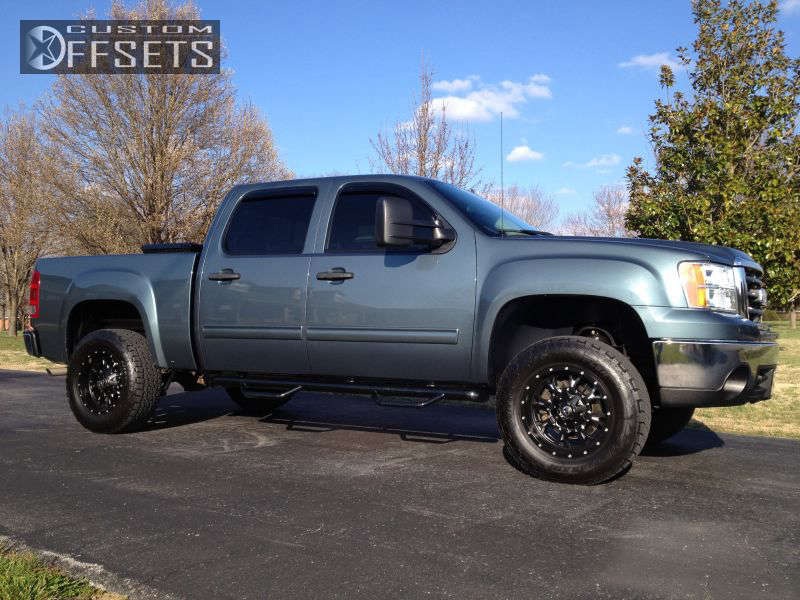 """2007 GMC Sierra 1500 Slightly Aggressive on 18x9 -12 offset Fuel Krank and 285/65 Nitto Terra Grappler G2 on Suspension Lift 3"""" - Custom Offsets Gallery"""