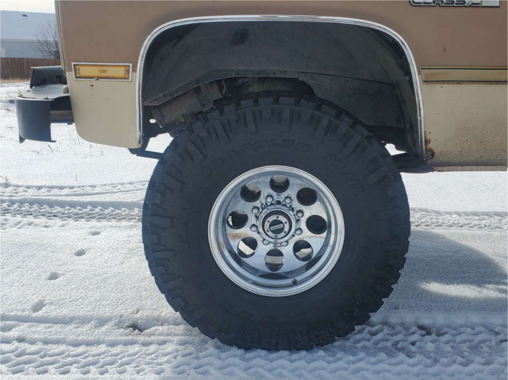"""1987 GMC V2500 Aggressive > 1"""" outside fender on 16x10 -38 offset Alloy Ion 171 and 315/75 Nitto Trail Grappler on Suspension Lift 4"""" - Custom Offsets Gallery"""