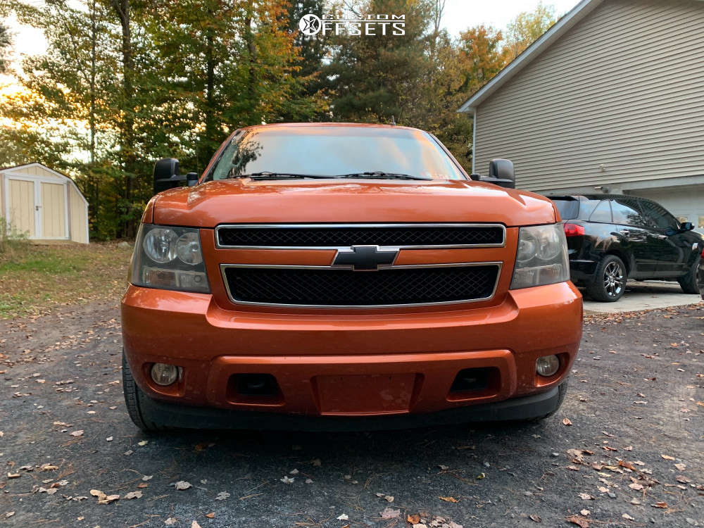 """2008 Chevrolet Avalanche 1500 Aggressive > 1"""" outside fender on 20x9 -12 offset Panther Offroad 580 & 275/55 Atturo Az610 on Stock Suspension - Custom Offsets Gallery"""