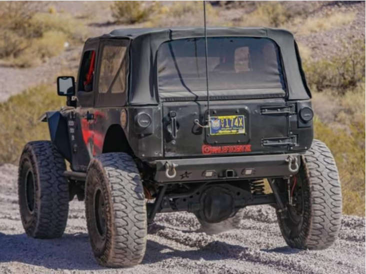"""2009 Jeep Wrangler JK Super Aggressive 3""""-5"""" on 17x9 -12 offset Vision Manx and 40""""x13.5"""" Milestar Patagonia Mt on Suspension Lift 3.5"""" - Custom Offsets Gallery"""