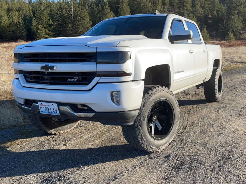 """2016 Chevrolet 1500 Super Aggressive 3""""-5"""" on 20x12 -51 offset ARKON OFF-ROAD Lincoln and 37""""x12.5"""" Pro Comp Mud Terrain on Suspension Lift 7"""" - Custom Offsets Gallery"""