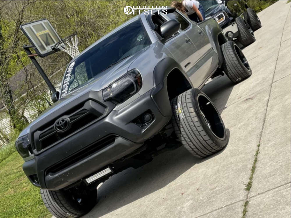 """2014 Toyota Tacoma Super Aggressive 3""""-5"""" on 20x12 -55 offset Hostile Fury and 29""""x12.5"""" Mickey Thompson Street Comp on Suspension Lift 4"""" - Custom Offsets Gallery"""