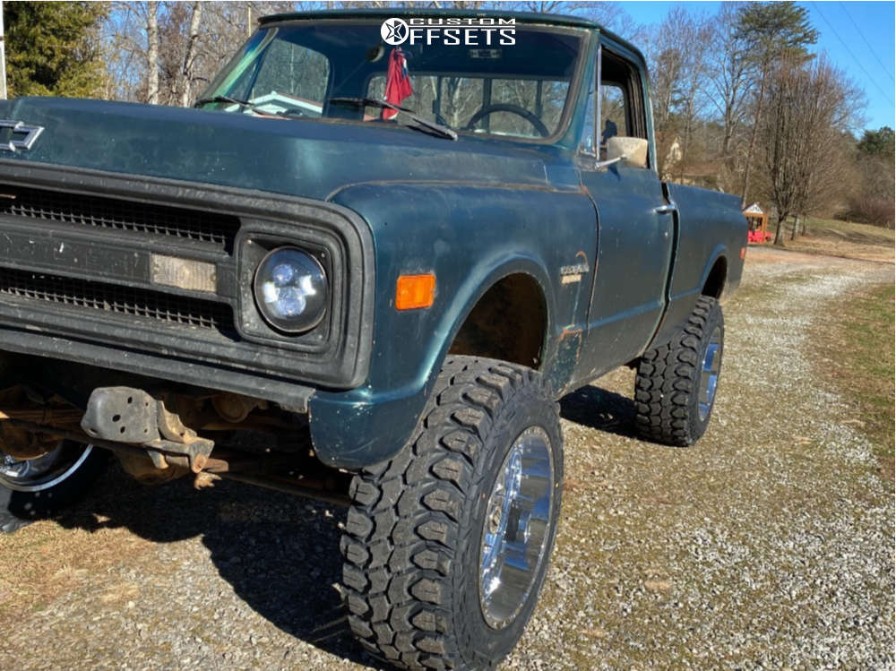 """1969 Chevrolet K10 Pickup Aggressive > 1"""" outside fender on 20x12 -44 offset TIS 544c and 35""""x12.5"""" Gladiator Xcomp Mt on Suspension Lift 6"""" - Custom Offsets Gallery"""